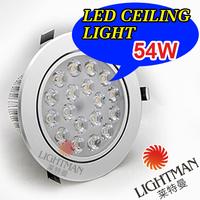 CREE 9W 12W 15W 21W 27W 36W 45W 54W High Quality Ceiling Lamp Downlight  AC85-265v warm white /white