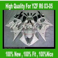 Pre_drilledYZF R6 fairing for Yamaha YZF R6 2003 2004 2005 #ff11w YZF-R6 YZFR6 03 04 05 motorcycle fairing parts white