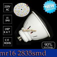 Free Shipping Hot sale led bulb spotling lamp  gu10 SMD 3W  5W cob 6W 9W 220V SMD2835 Cool/Warm white CE& ROHS