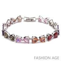 2014 New Design Fashionable AAA Quality Cubic Zircon Bracelet Platinum Plated Bracelet&Bangles For Women (FB-08)