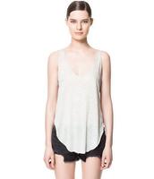 Tank Top Regata Feminina Vest Women Vest Fruit Color Big V-neck Wild Sleeveless Clothing Women Wear 2014 New Summer free Shiping
