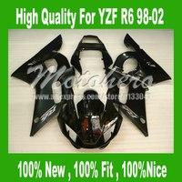 Pre_drilledYZF R6 Fairing for Yamaha YZF R6 1998-2002 YZFR6 98-02 YZF R6 98 99 00 01 02 Fairings kit #5277h black bodywork