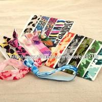 FREE DHL 1000pcs card packing Emi Jay Like Elastic Goody Ouchless Ribbon Elastics Hair Bands yiwu custom printed hair tie