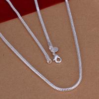 "Wholesale! Fashion 925 Silver 3mm Snake Chain Necklace 16""-24"" Wholesale 925 Sterling Silver Jewelry Necklace Chain AN192"