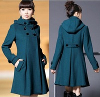 Autumn and Winter Coat Wool Double-Breasted Outerwear Wool Coat Women Medium-Long Coat Wool Coat