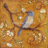Birds flower Painting Air Brushing  Painting no Frameless oil painting spray painting,inkjet printer