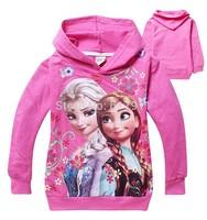 wholesale New 2014 Autumn frozen sweatshirt girls frozen hoodie girls sweatshirt jacket frozen baby hoodies sweatshirt for girls