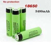 6pcs/1lot Free shipping Original NCR18650B 3400mah li-ion battery 3.7v pcb rechargeable battery 18650 for panasonic