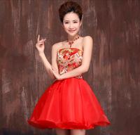Evening dress spring and summer formal dress cheongsam clothes short skirt
