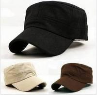 Cadet truck baseball cap summer pure color military hat cap outdoor cotton army hat navy flat cap