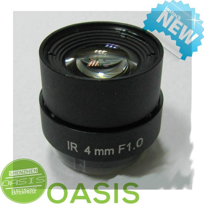 5 PCS 4mm Fixed Iris CS Mount IR CCTV Security Camera Lens F1 Aperture(China (Mainland))