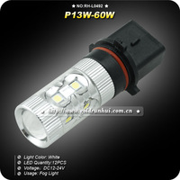 2pcs P13W 60W Samsung Chip LED Projector Lens 1100LM Fog Driving Light Lamp