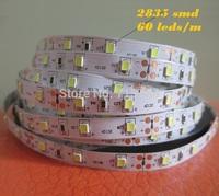Free Shipping 20M led strip 2835 non waterproof  DC 12V 300 led strip 2835 60 leds/m warm white Flexible strip lighting for car