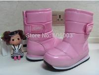 free shipping  2014 winter waterproof Warm fluffy cotton boots children boys snow boots  KINDDOG210389