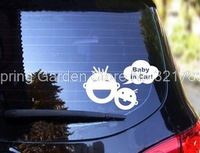 """""""Baby In Car"""" Fun Car Stickers Decorative Waterproof Wall Stickers Can Be Attached Anywhere"""