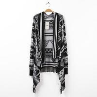 New Fashion Geometric Jimono Jacket Women 2014 Autumn Women Jacket Casual blouse 3024