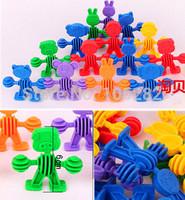 (50pcs/lot)3C New Baby kids Educational toys eco-friendly plastic assembling building block software style block Children'gift