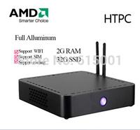 SkymallHK Thin Clients Mini PC AMD-T56N Dual Core 1.65GHz 4G RAM 64G SSD With HDMI+VGA Support Wifi PC Mini Desktop FAST MINI PC