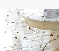 Rural embroidery screens floret Korean princess bedroom window curtain sitting room window screening fabric material