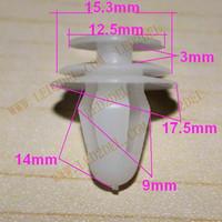 01 Wholesale 100 pcs General Common Car Door Panel Plastic clip Snap Push Pin clips Free Shipping