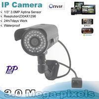 2014 Sale Onvif  1296P 3.0Mp Network CCTV camera 36LEDs outdoor Waterproof IR Bullet P2P Camera