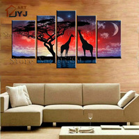 5PCS Dafeng Canvas Painting ,100% Handmade Modern Abstract   Oil Painting  Canvas Wall Art  Home Decoration  TH010