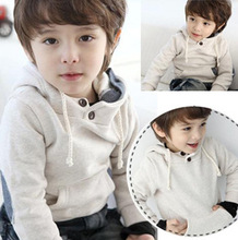 Unisex child hooded pullover outerwear Boys Girls' fleece sweatshirt handsome Cool Free Shipping(China (Mainland))