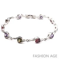 2014 New Design Fashionable AAA Quality Cubic Zircon Bracelet Platinum Plated Bracelet&Bangles For Women (FB-13)