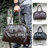 Faux Leather Men's Duffle Sports Shoulder GYM Schoolbag Bag