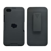 Black Hard Case Cover with Belt Clip Holster Stand for BlackBerry Z30 Z 30