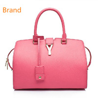 FREE SHIPPING YS Famous Brand Real Leather Bag Women Bag Genuine Cowhide Designer Brands Tote Celebrity Bag Big Style Handbags
