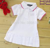 New Spring Summer 2013 Baby/Infant Girls Brand Polo Dress children / kids(1-5y) Princess tennis Dresses 5pcs/lot