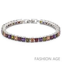 2014 New Design Fashionable AAA Quality Cubic Zircon Bracelet Platinum Plated Bracelet&Bangles For Women (FB-14)