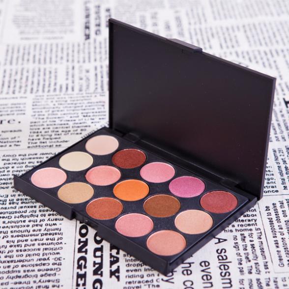 Professional New 15 Colors Shimmer Eyeshadow Palette Eye Shadow Makeup Make Up Set G15 V1043A(China (Mainland))