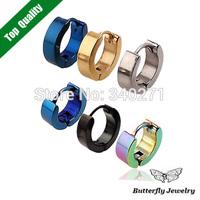 2014 Personality Fashion Titanium Steel Earrings Men Stainless steel Ear Nail Men Jewelry Wholesale