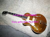 Wholesale -Left Handed Goldtop ES137 Classic Jazz Guitar Wholesale Guitars High Quality HOT