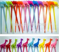 Kid Baby Beginner Cartoon Style Easy Fun Learning  Helper Chopsticks Random Color free shipping