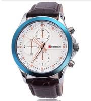 free shipping  Detonation watch waterproof curren brand men's high-end business leather watch