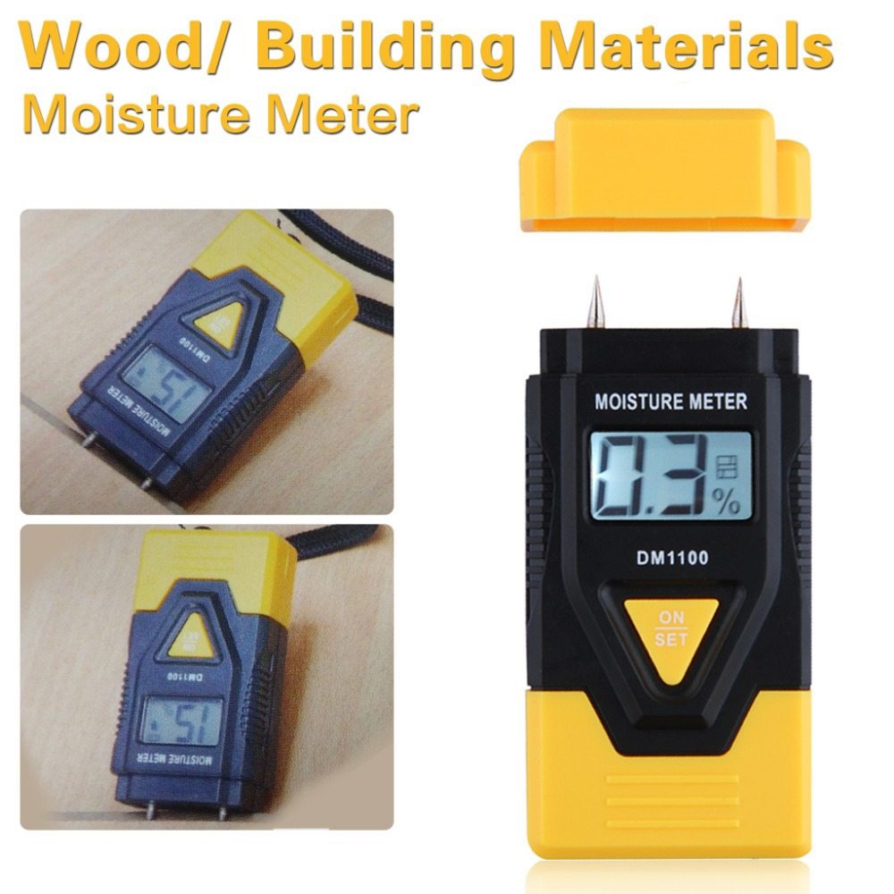 Shipping from US ! New Arrival 3 IN 1 Digital Moisture Meter for Wood ,Ambient Temperature Meter for building material