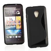 Hot Soft S Line Wave TPU Gel Cover Back Case Skin for HTC Desire 700 709d 7060 7088 phone case bag