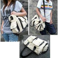 Unisex Canvas Hobo Clutch Purse Handbag Shoulder Totes Bag, Suitable for Men and Women