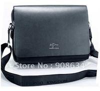 Free Shipping Fashion Large Men's PU Leather Shoulder Business Messenger Bag