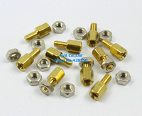 100 M3x6mm Male Female Hex PCB Standoff Spacers 6mm Body Length with Nuts