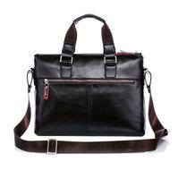 New Hot High Quality PU Leather Men Bag Shoulder Casual Sling Belt Tote Business Briefcase Handbag