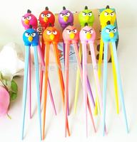 20pairs/lot bird Beginner Cartoon Style Easy Fun Learning  Helper Chopsticks Random Color free shipping