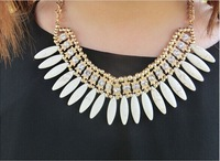 European and American fashion metal exaggerated Bohemia style drop temperament short necklace