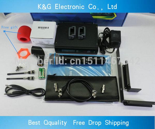 Free shipping SLX24 beta58 microphone wireless professional UHF wireless vocal Mic with Rack mounting Bracket Rack kits(China (Mainland))