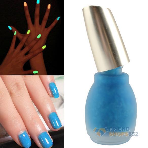 Fluorescent Neon Nail Polish Art Glow Lacquer Nail Varnish 15ml No.12 Blue F#OS(China (Mainland))