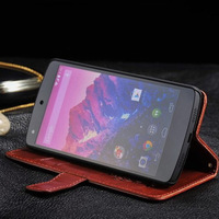 Nexus5 Genuine Leather Wallet Stand Case For LG Google Nexus 5 E980 D820/1 Mobile Phone Bag Cover with Card holder free shipping