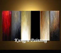 6-1008 100% handmade unframed good quality multi-panels colorful decorative painting modern abstract oil painting on canvas art